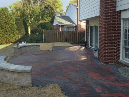 Brick Paver Patio with Seat Walls in Arlington Heights