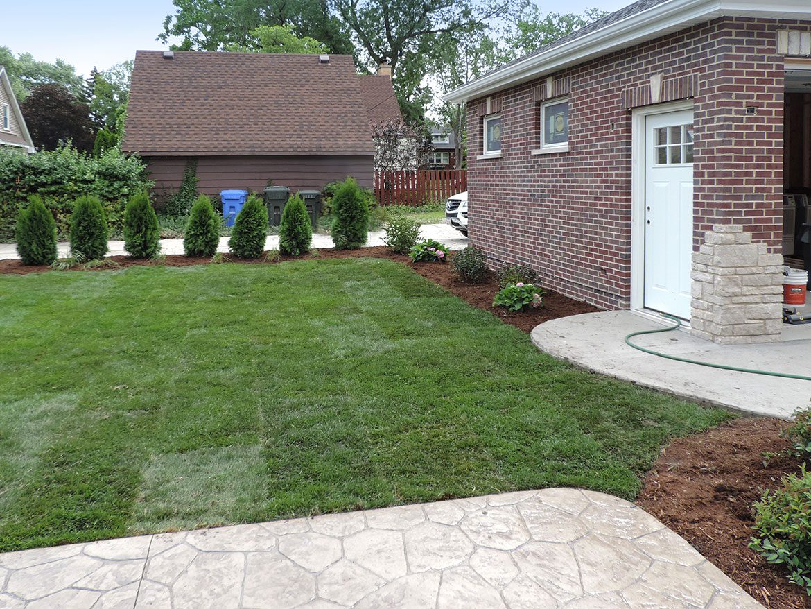 Backyard-by-Garage Landscaping Project