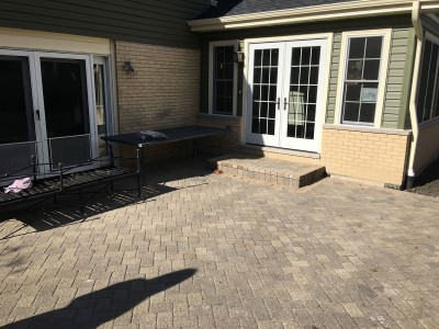 Paver patio and stoop