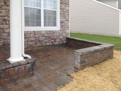 Front Entrance Brick-Patio-Closeup