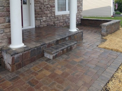 Front Entrance Brick Patio Brick Paver Patio Steps