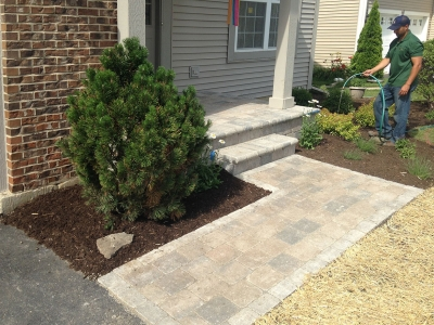 Brick-Walkway,-Front Entrance Steps