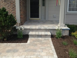 Brick Walkway with New Landscaping in Round Lake