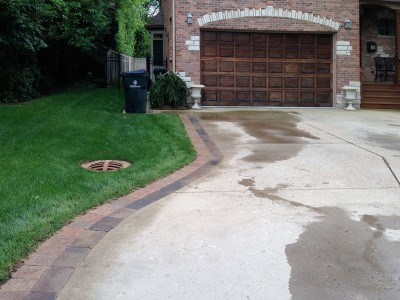 Brick Paver Apron in Glenview
