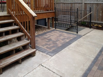 Brick Paver Patio in Chicago, 2nd view Brick Paver Patio