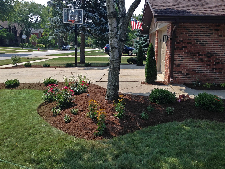 Front Entrance Yard Perennials Elk Grove Landscape Design For