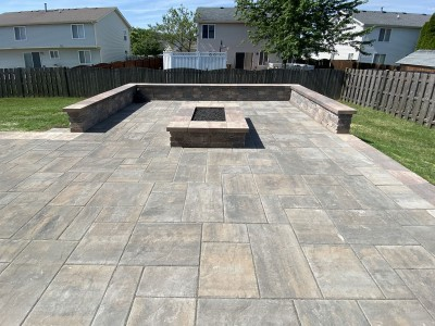 Paver Patio and Fire Pit Installation