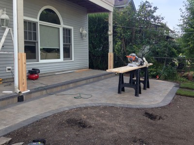 Unilock Hollandstone   Paver Patio and Stoop in Arlington Heights Unilock Hollandstone Paver Patio Stoop
