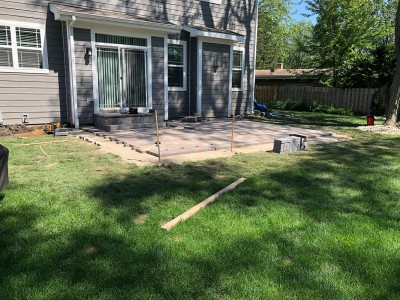 1_Paver patio construction