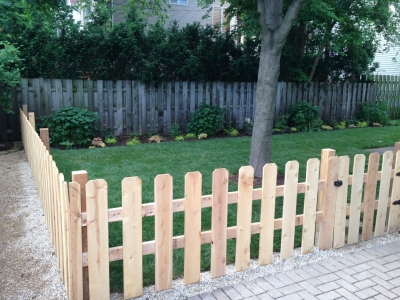 Cedar Fence - Wrigleyville Landscaping